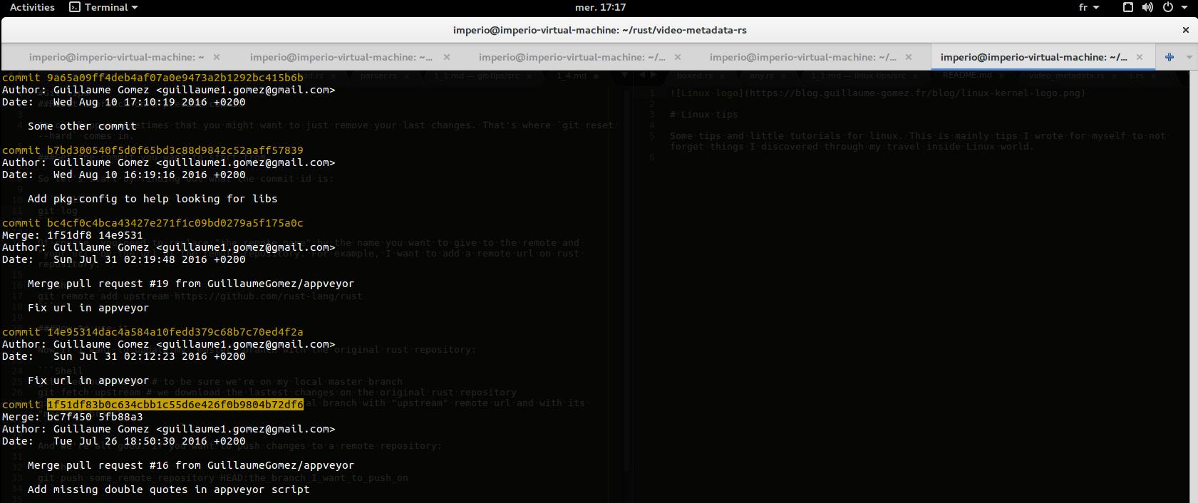 Git log