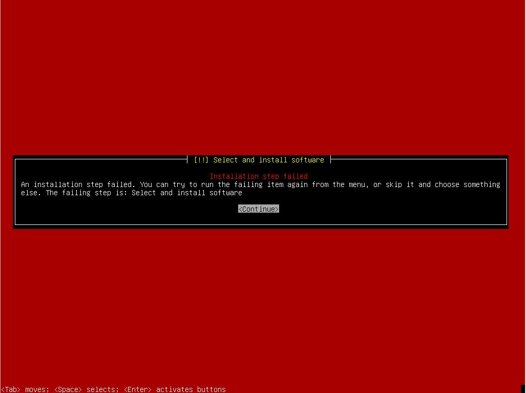 Linux installation failure