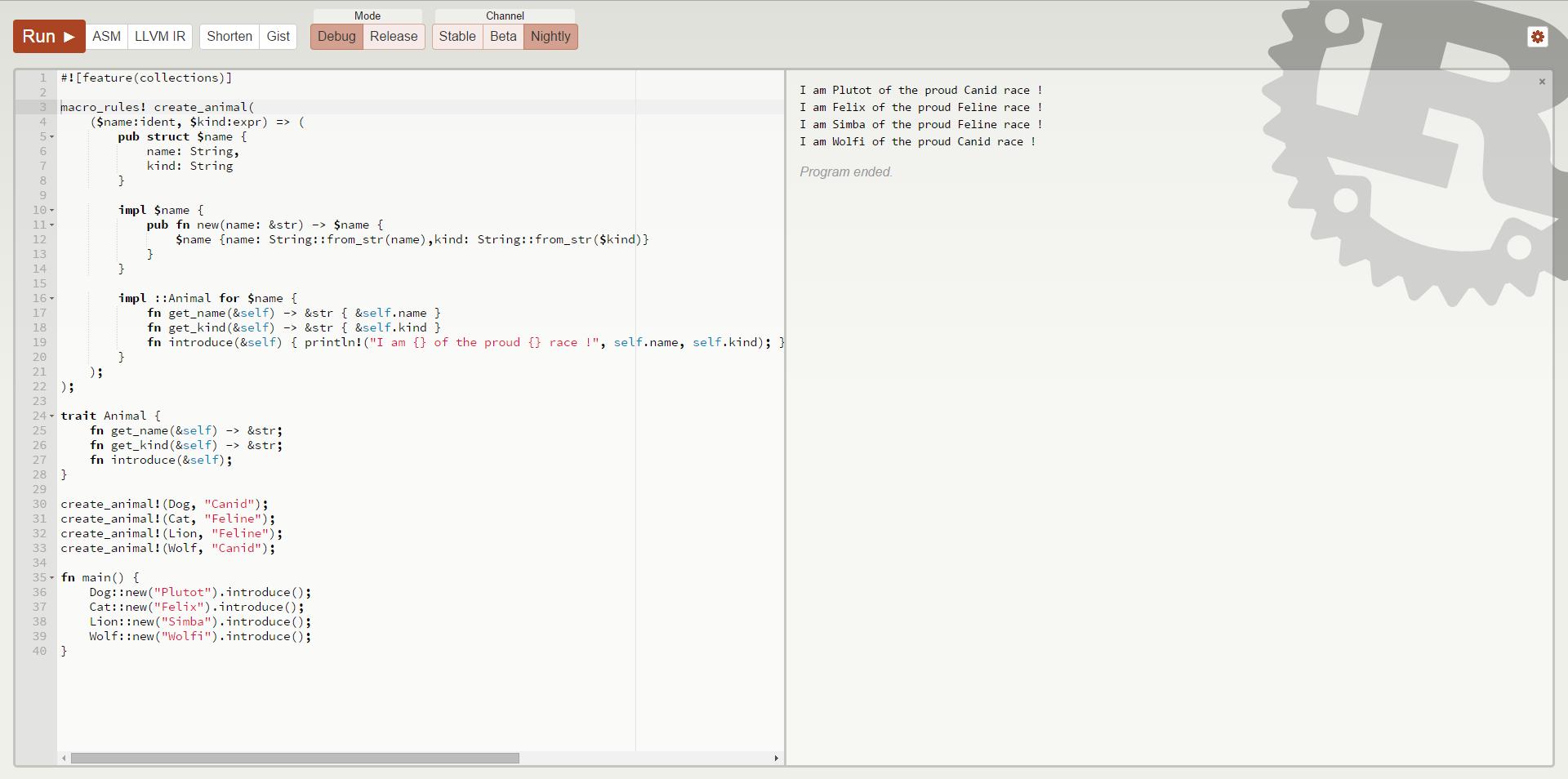 Rust code online